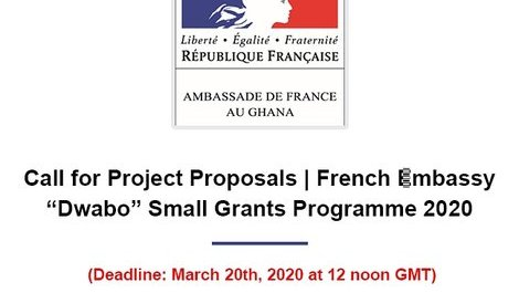 "Call for Project Proposals | French Embassy ""Dwabo"" Small Grants Programme (...)"