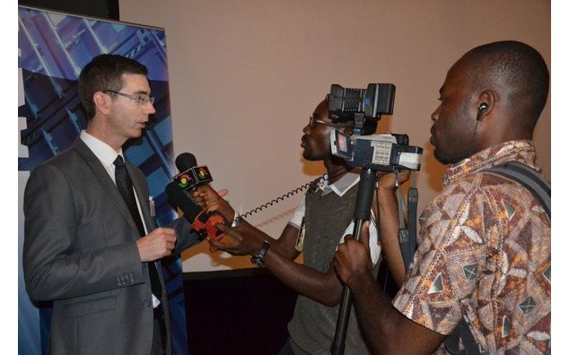 TV interview of the chief of delegation