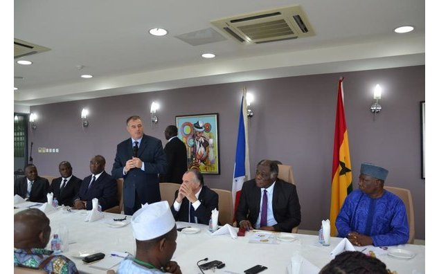 The Ambassador of France to Ghana, HE François Pujolas delivering speech during the launch of Ghana-France Parliamentary Friendship Association