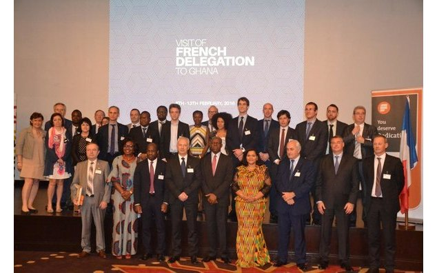 The French delegation and the keynote speakers