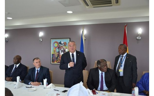 French MP, Alain Marsaud, delivering speech during the launch of Ghana-France Parliamentary Friendship Association