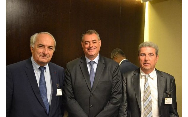 Pierre Goguet, Chairman of the Bordeaux Chamber of Commerce, the Ambassador of France to Ghana, HE Francois Pujolas, Robert Dulery, CEO of MédEx
