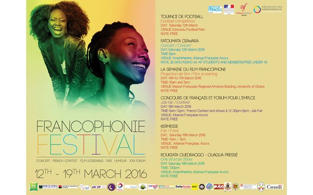 Program for the Francophonie Festival 2016