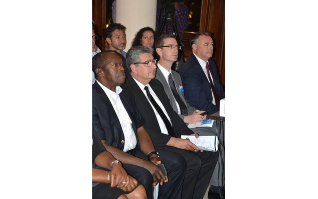 Members of the Delegation, Richard Anamoo, General Director of GPHA and HE François Pujolas