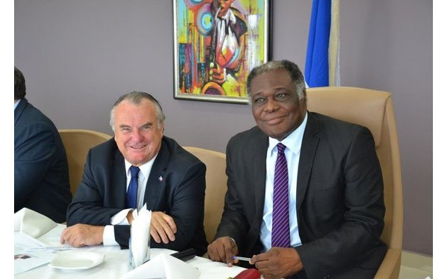 French MP, Alain Marsaud with Hon. Evo Barton Odro, First Deputy Speaker of Ghana Parliament